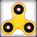 Yellow Hand Fidget Spinner