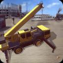 铁路建设者:起重机和装载机