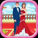 婚礼的情侣圣诞游戏