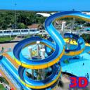 水上公园幻灯片冒险3d