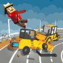 建筑卡车拆迁