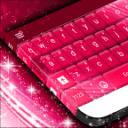 粉红色的键盘绚丽GO主题
