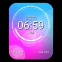 DJ Disc Digital Clock