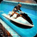 喷气船海滩水滑梯冲浪者3D