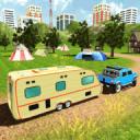 露营车厢车模拟器:RV悍马拖车车