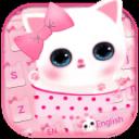 可爱粉色小猫键盘主题 emoji表情键盘 + 语音输入
