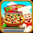 披萨店业务:食品烘焙和收银员