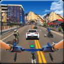 在 自行车 赛跑 上 高速公路 -  自行车 骑士 游戏