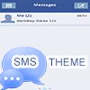 GO SMS Theme 短信PRO主题蓝白
