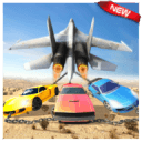 CHAINED CARS VS PLANE - CRASH SIMULATION SANDBOX