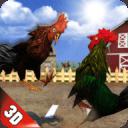 愤怒的雄鸡战斗英雄:农场鸡的战斗