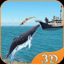 鲨鱼 攻击 蓝色 鲸 3D 冒险 游戏