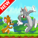 Tom run and Jerry jump