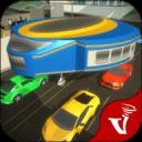 陀螺公交车驾驶:未来派的运输游戏