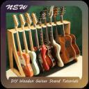 DIY Wooden Guitar Stand Tutorials