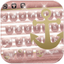 Rose Gold Anchor glitter Theme for Keyboard