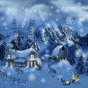 飘雪花圣诞节主题动态壁纸