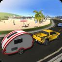 露营车厢车模拟器:沙滩车拖车
