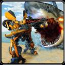 汽车机器人鲨鱼狩猎 - 怪物鲨鱼生存