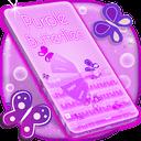 紫色的键盘女孩主题