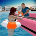 Lifeguard Beach Rescue Duty: Boat Rescue Team