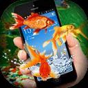 Fish on Screen Aquarium Joke -Golden Fish on Phone