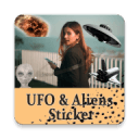 UFO & Aliens Stickers Pack Photo Montage Editor