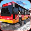 真正的公共汽车冬季旅游:Sim 18 3D教练司机