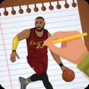 畫NBA籃球