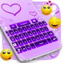 紫色发光键盘