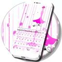 粉红色的键盘女孩主题