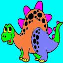 着色童装恐龙的