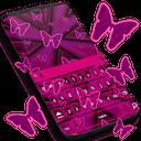 粉红色霓虹灯键盘GO