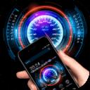 全息投影酷炫科技霓虹跑車主題 法拉利hologram跑車