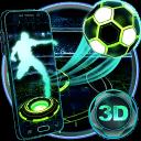 霓虹燈足球技術3D主題