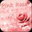水滴粉色玫瑰键盘主题