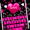 粉紅少女的愛鍵盤 有粉紅少女的愛壁紙與粉色愛心按鈕