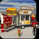 食品卡车模拟器比萨送货代客泊车