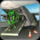 飞机飞行机器人运输车