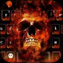 火焰骷髅头键盘主题