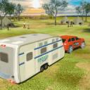 露營車廂車模擬器:巡洋艦汽車拖車3D