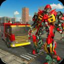 真正的机器人消防员卡车变形机器人游戏