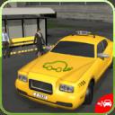 电动汽车出租车司机3D