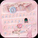 玫瑰金钻石键盘主题 玫瑰金珠宝项链
