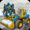 雪铲挖掘机机器人转型游戏