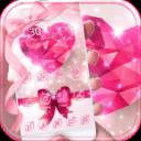 Pink Diamond Theme Heart Stone