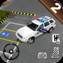 真实 警察 市 汽车 停車處 司机