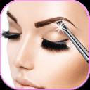 化妆贴纸 和 完美的眉毛照片蒙太奇: 虚拟美容院 图片编辑器