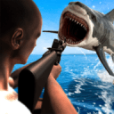 水下的愤怒鲨鱼狩猎