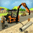 城市道路生成器施工挖掘机模拟器